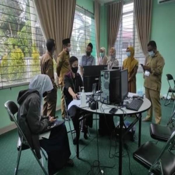 Kakanwil Monitoring Pelaksanaan PPDB Reguler Tahun Ajaran 2021 MAN 2 Samarinda