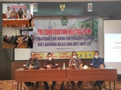 Pre Construction Meeting, Gedung RKB Program Keagamaan MAN 2 Samarinda